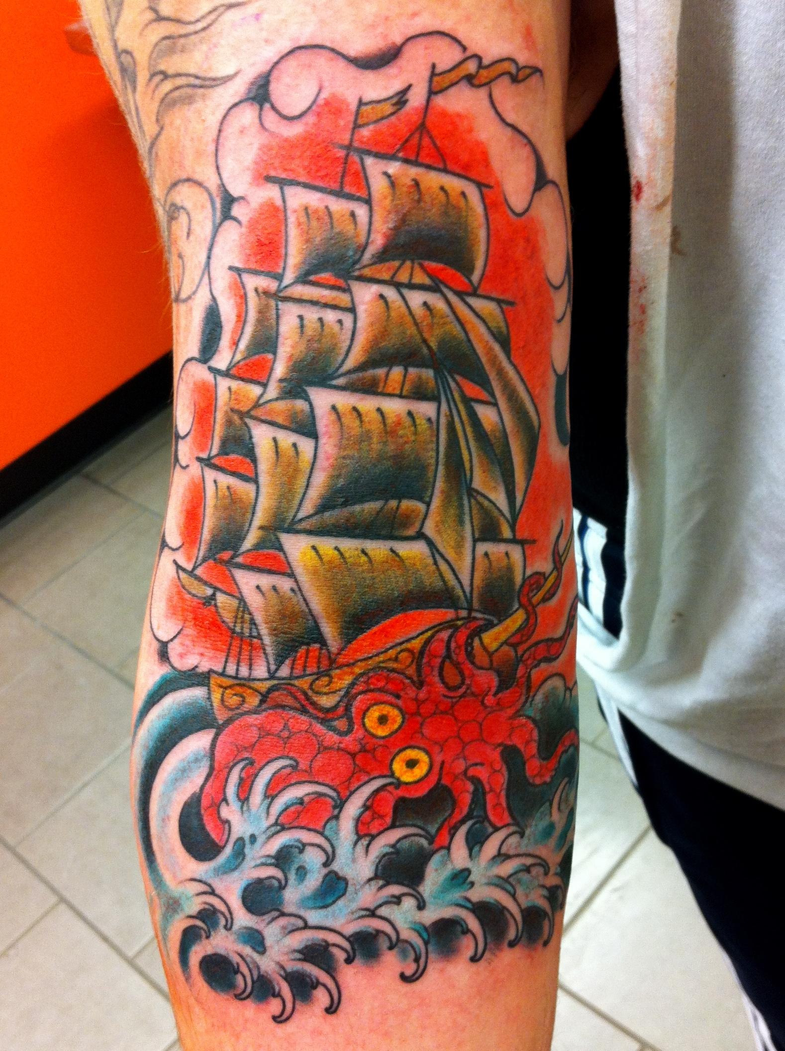 script tattoo | Tattoos by Nick Kelly