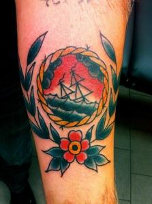 fist tattoo i did on wes, cool walk in