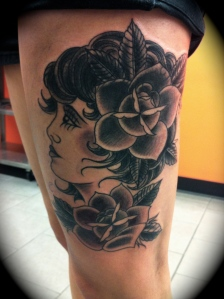 this was a cover up of a tattoo that i did hahahaha