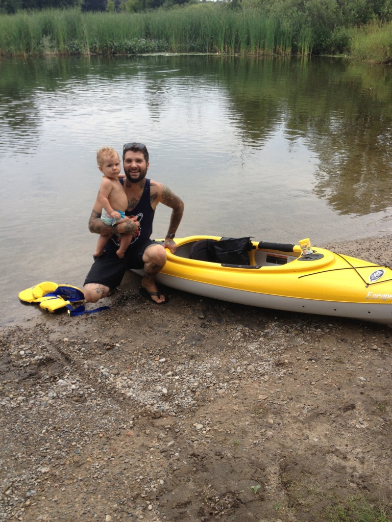 Oliver and i went kayaking down the mighty Huron River